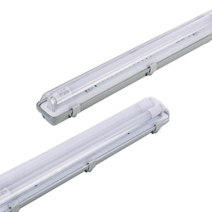 LED 조명기구 IP54 T8은 튜브 지원 상업 야외 통합 고정 배선 4 포트를했다. 증기 타이트 방수 안티 - 흐림