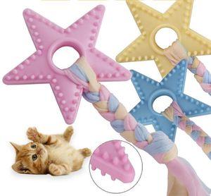 Multi Puzzle Estrellas TPR de dibujos animados Toy Bite cuerda dientes limpios entrenamiento del animal doméstico perros juguetes masticables para perros alimentos para mascotas HA315