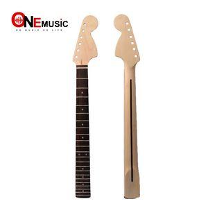 GRANDE CABEÇA 22 Frets Maple Guitar Neck Rosewood Fingerboard Para ST Strat Substituição