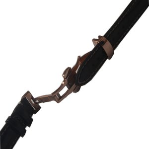 Alligator Leather+Cowhide leather Watchbands Dark Brown Bamboo Grain Watch strap bracelet 18mm 19mm 20mm 21mm 22mm with rosegold buckle new