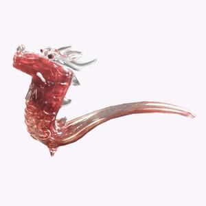 pipe cuillère verre conduites d'eau pour narguilé fumer mini-conduites d'eau en verre Il existe seulement en forme de dragon mythique formes de tabagisme barboteur