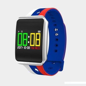 2018 WorldCup Smart Watch Männer Herzfrequenz-Sport-Uhr Pulszähler Calorie Schwimmen Armband Wasserdicht Bluetooth-Uhr für Frauen