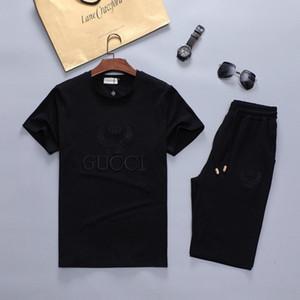 Erkek Yaz Tasarımcı Kısa Kollu Tişört Suits Moda Eşofman Mektupları Nakış Şort Giyim Setleri 2adet Çiçek Eşofmanlar