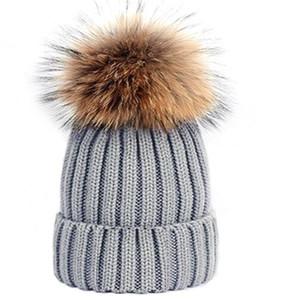 Heißer Verkauf Mode Mützen Hip Hop Mütze Winter Warme Hut Gestrickte Wollhüte Für Frauen Männer Gorro Bonnet Luxus Mützen Kappen Großhandel