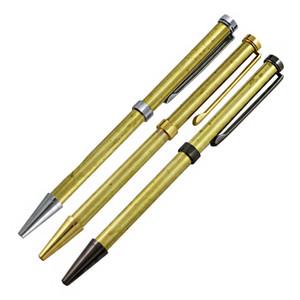 Diy Trabalho 3 cores Chrome Silver Golden Gun Preto Estoque Assort Conjunto Completo De Madeira Pen Kits 7mm Woodturning Slimline Madeira Pen Kits Com Recarga