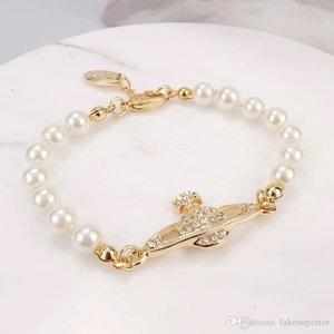 4 Colors Pearl Beaded Bracelet Women Rhinestone Obit Bracelet Gift for Love Girlfriend Fashion Jewelry Accessories High Quality