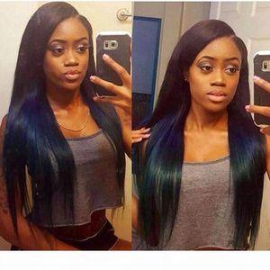 Straight Indian Full Lace Wig Human Hair 100% Virgin Human Hair Wigs For Black Women Medium Cap Natural Color Bellahair DHL Free Shipping