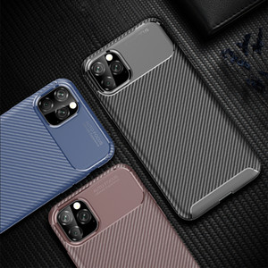 Caso di lusso per il caso di iPhone del telefono 11 in silicone per iPhone coperchio di protezione 11 Pro Max 2019 in fibra di carbonio per iPhone
