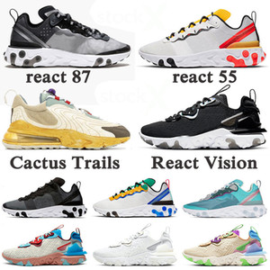 Nike React Vision Element 55 87 Undercover des chaussures de course 270 React ENG Cactus Trails stock x Nouveaux baskets pour hommes Baskets Chaussures de sport pour femmes