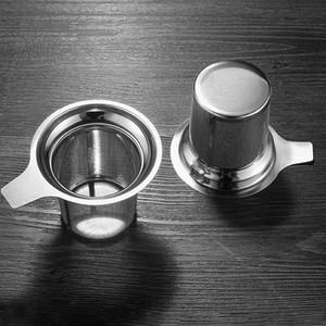 Reutilizable de acero inoxidable de malla de Infuser del té del tamiz del té de la tetera de té Hoja de especias Filtro Recipientes Accesorios de cocina personalizable DBC BH3689