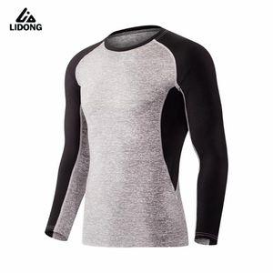 Lidong Yeni Erkekler tişört Hızlı Kuru Gym Fitness Tayt Spor Basketbol Eğitim Erkek Koşucular Uzun Kollu Top Tee Gömlek Koşu
