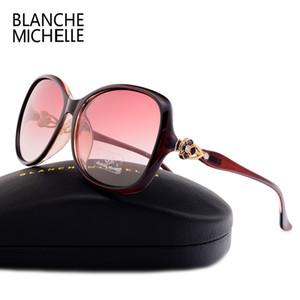 블랑쉬 미셸 2020 새로운 편광 선글라스 여성 브랜드 디자이너 빈티지 UV400 태양 안경 광장 gafas 드 졸 mujer와 상자