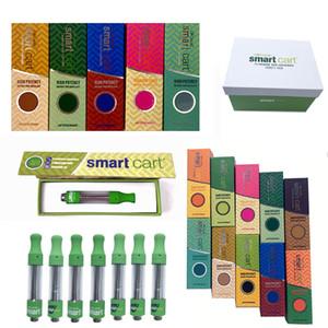 Inteligente Carrinho Vape Cartuchos Embalagem Smartbud Esvaziar Dab Wax 0,8ml 1 ml de óleo Atomizador Ecigarette 510 Ceramic Cartuchos vaporizador