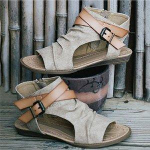 Kadınlar Yaz Sandalet Tasarım Kama Topuk Gladyatör Zapatos MUJE New Kadınlar Sandalet Artı boyutu 36-42 takozları Ayakkabı