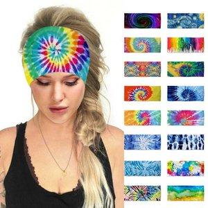 Mujeres 2020 Bandas de Boho del verano de pelo Imprimir Accesorios Cinta de cabeza de Bohemia Cruz turbante vendaje Pañuelos de pelo Turbante Headwear