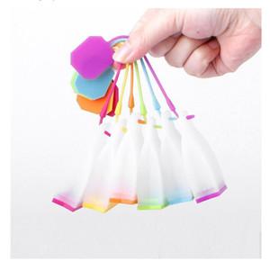 Silicone Tea Strainer Bag stile progettato erbe Spice infusore Filtro diffusore tè Filtro Strumenti con 6 colori IIA21N