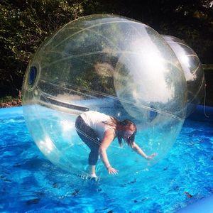 Büyük İndirim Şişme Su Zorb Topu 1.5 M Dia Su Yürüme Topu Için Havuz / Göl / Deniz TPU Su Rulo Top Ucuz