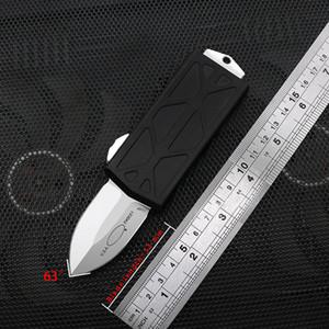 """Yeni stil 5.6"""" Exocet Otomatik Bıçak İleri Teknoloji Kalite Alüminyum CNC Stonewash D2 bıçak Cüzdan bıçak titanyum alaşımı bıçak kolye ver"""