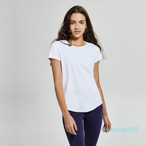 LU-58 No-see through yogaTops T-Shirt Solid Colors Women Fashion Outdoor Yoga Tanks Sports Running Gym Clothes