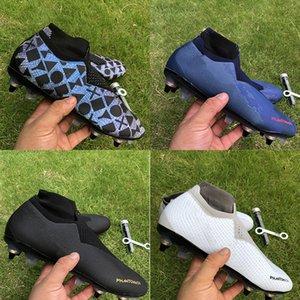 La meilleure qualité Phantom VSN Elite DF SG Chaussures de football Noir Lux EASports Game Over bleu blanc gris chaussures rouges de soccer mens hommes 39-45