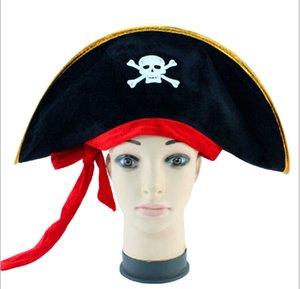 Cap Capitão Pirata Halloween Decorações Corda Vermelha pirata Hat Caribbean Pirate Captain Morgan Cap
