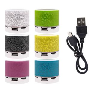 A9 Crack LED Speaker Wireless Bluetooth Loud Speaker TF USB MP3 Mini Portable Speakers Subwoofer Handsfree Multicolor
