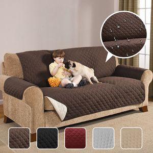 Водонепроницаемый ватные Диван Кушетка Чехлы для собак Домашние животные Дети Anti-Slip Recliner Slipcovers Кресло Мебель Protector 1/2/3 Seater