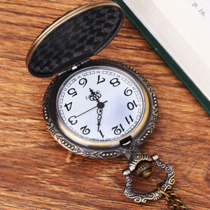The Nightmare Before Christmas Pocket Watch Jack Skellington Skull Skeleton Retro Pendant Chain Necklace Watches Antique Watch