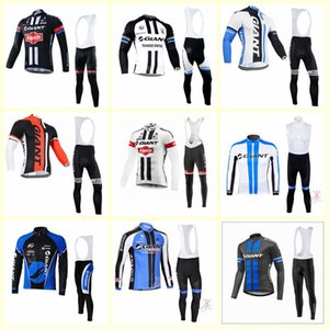 GIANT team cyclisme manches longues jersey pantalon ensembles New Mens Cycling Clothing sportswear outdoor U81005
