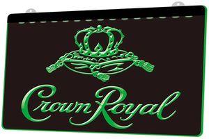 LS0018 Crown Royal Derby Whisky Beer Bar RGB múltiple Color Mando a Distancia grabado 3D LED luz de neón de barra de la tienda del club del Pub
