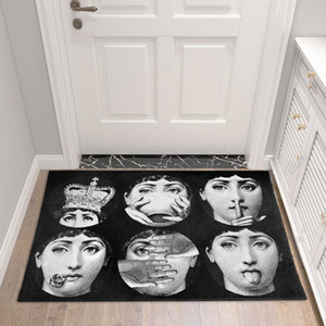 Fornasetti Alfombras Sala de estar Cuarto de baño pasillo de acceso del hogar nórdicos cubierta estera del piso del dormitorio de noche Alfombra de cocina tatami Alfombra