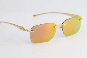 2020 Nuevas vendidas Glasses Sun Glasses Leopard Series Óptico 8200759 Gafas de sol de metal Moda Mirada de gafas de alta calidad Lente Unisex