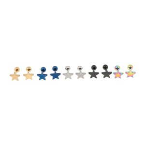 10pcs in acciaio inox Ear Studs Tragus Labret Lip Pin Ring Piercing Jewelry 16G