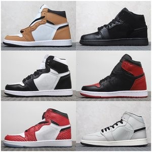 Cheap Jumpman 1 High OG Bred Toe Spider-Man UNC 1s top 3 Mens Kids Basketball Shoes Homage To Home Sports Sneakers