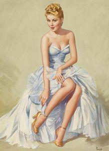 Pearl Frush Pin Up Girls 4 Home Decor dipinto a mano HD Stampa olio pittura su muro su tela Canvas immagini di grandi dimensioni 191113