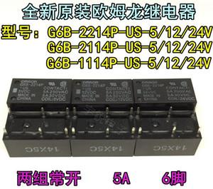 10 PCS Omron Relé G6B-1114P-EUA 2114 P 2214 P 5 VDC 12 VDC 24 VDC 5A 100% Novo Original freeshipping