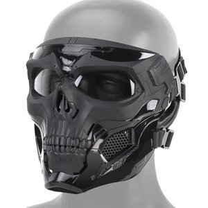Máscara Máscara Halloween Skeleton Airsoft completa Crânio do partido do disfarce Cosplay cara Paintball Militar Combate Game Face Protective Mas Y200103