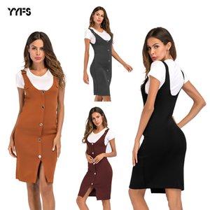 womens designer strap Rock Taste split lange stricken Kleid sling bag hip Rock