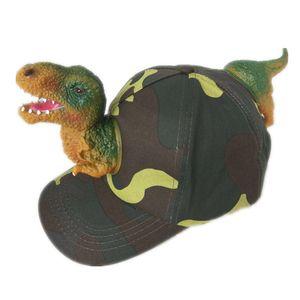 Animal Baseball Cap Дети Родитель-ребенок Cap моды личности Cute Party Динозавр животных Камуфляж Бейсболка Детский Hat