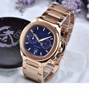 Top grade Swiss Brands Mens Multifunction Automatic Mechanical Watch with Day Date 42mm Precision steel Luminous Sports Watches Wristwatches