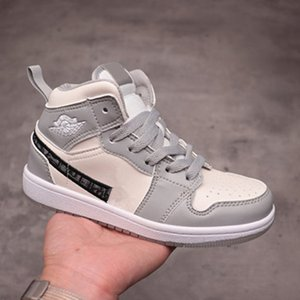 2020 High OG Grey kids Basketball shoes Spiderman UNC 1s top 3 Banned children Designer shoes culture casual sports basketball shoes