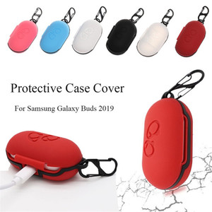 Box ile Samsung Galaxy Tomurcuklar Ultra İnce Koruyucu Kılıf Kulaklık Başlıkları için Silikon anti-şok Kılıf Kapak Kulaklık Kılıfı Toz geçirmez Koruyucu