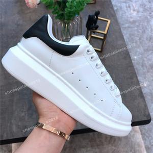 2020 Günlük Ayakkabılar Kadın Erkek Boy Fildişi Siyah Bez Ayakkabı Deri Platform Ayakkabı Düz Chaussures De Sport Zapatillas