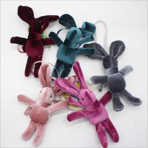 C4582 presente do coelho Coelho Plush Toys Páscoa Orelhas Dolls Animal Recheado Saco Pingentes Long Key Wedding Present Cadeia Partido Decoração dos Namorados