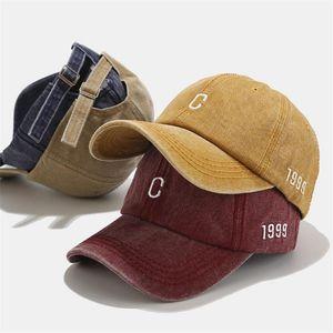 Yeni Moda Beyzbol Şapkası Unisex Snapback Güneş Şapkası C Harf Nakış Pamuk Beyaz Beyzbol Caps czapka z daszkiem #GH