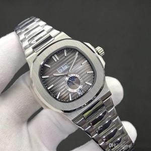 18 цветов верхнее качество Часы Nautilus 5726 Механические Автоматические Мужские Часы Moon Phase Месяц кожаные ремни Все функции работы