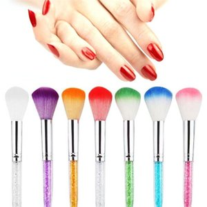 7 unids Profesional Nail Art Dust Brush Set Kit de Cepillo de Limpieza de Uñas Suave Manicura Pedicura Herramienta Limpiador de Polvo de Uñas