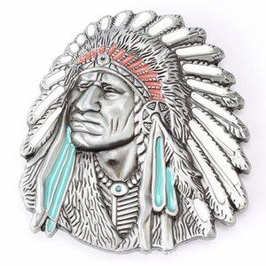 Indian head belt buckle Belt DIY accessories Western cowboy style Smooth belt buck