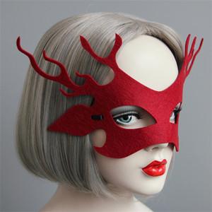 Maske Erwachsene Kinder Party Ball Comic Kitz Gesichtsmaske Weihnachten Elch Kreative Rosa Gules Masken Fabrik Direktverkauf 2rx p1