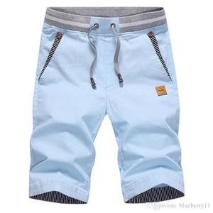 Мужские шорты Летние сплошные повседневные мужчины грузовой флот синий тонкий подходящий пляж плюс размер 4XL